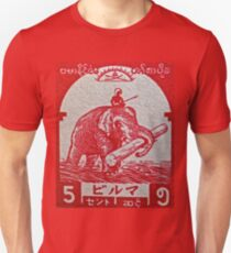 """""""1943 Japanese Occupation of Burma Stamp"""" T-Shirt"""