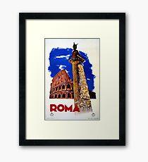 Vintage Roma Rome Italian travel Framed Print