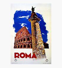 Vintage Roma Rome Italian travel Photographic Print