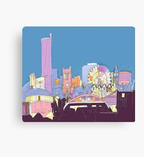 Manchester City Skyline by Arty Margit Canvas Print