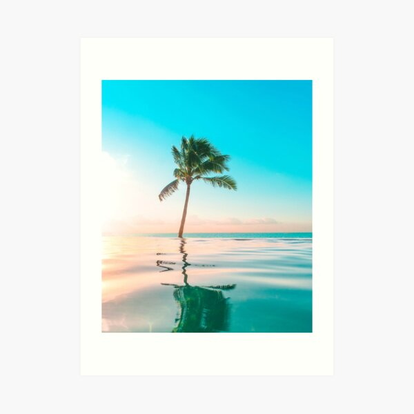 Vinyl 6x4ft Tropical Beach Relaxing Summer Holiday Backdrop Green Palm Trees Beach Chair Seaside Vacation Photography Backgroud Coastal Travel Hawaii Luau Party Banner