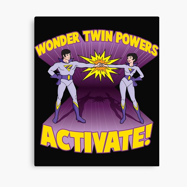 Wonder Twins T-ShirtWonder Twin Powers Activate Canvas Print