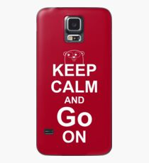KEEP CALM AND Go ON - White on Red Design for Go Programmers Case/Skin for Samsung Galaxy