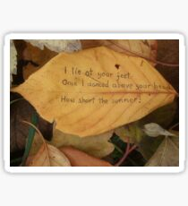 Leaf haiku Sticker