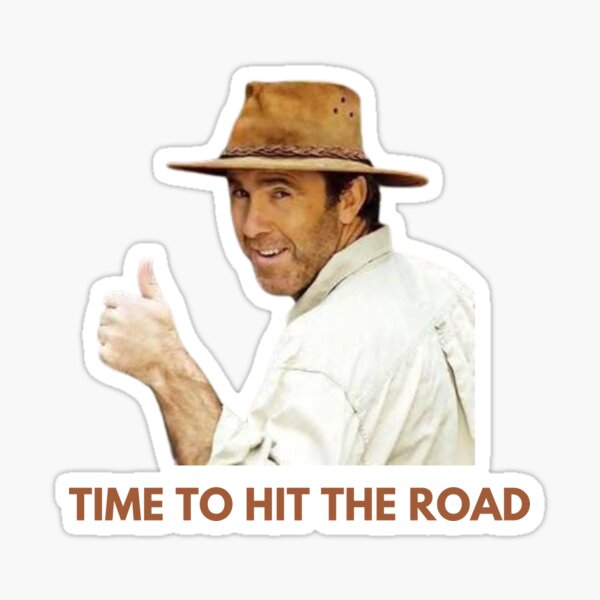 All Aussie Adventures—Time To Hit The Road Sticker