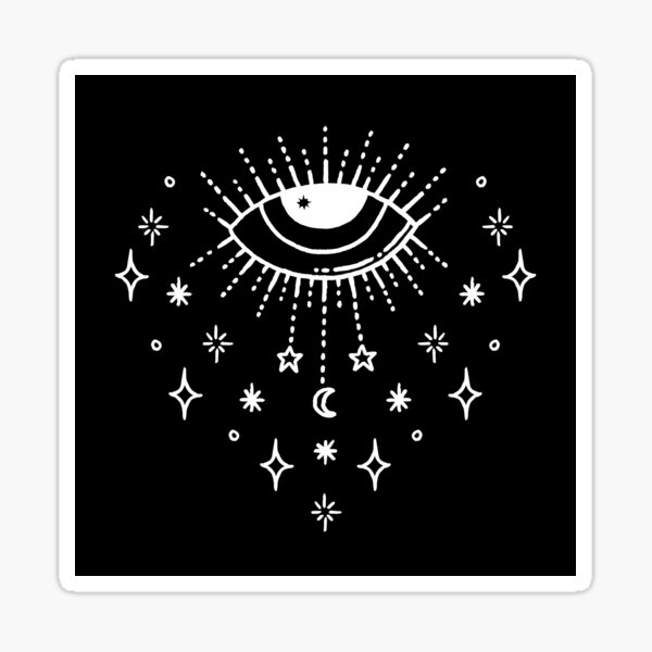 Mystic All Seeing Eye Wiccan Pagan Cheeky Witch® Sticker