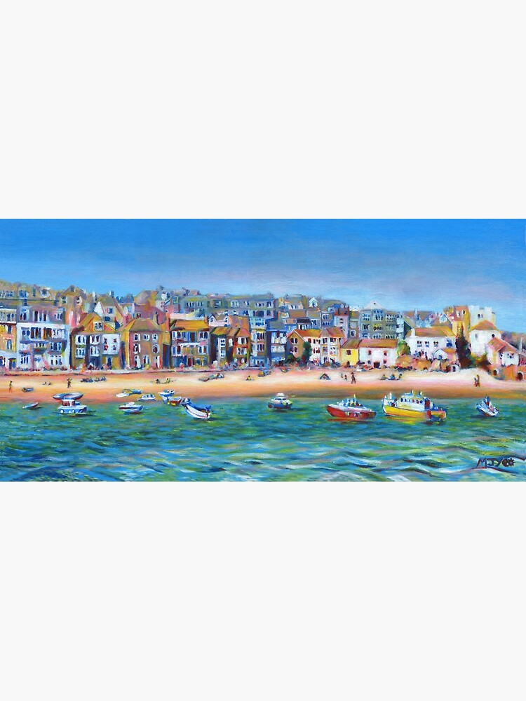 Acrylic painting, St Ives Harbour, Cornwall art by nature2canvas