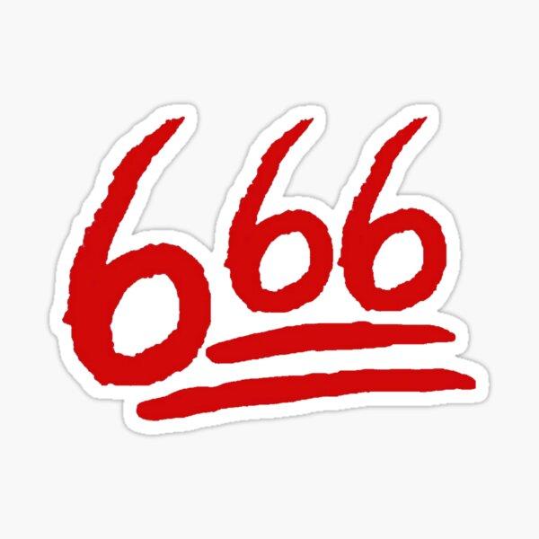 666 en Fleek Pegatina