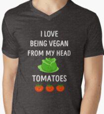 I Love Being Vegan Funny Veganism Men's V-Neck T-Shirt