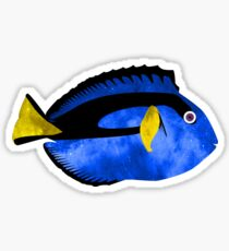 Happy Space Blue Tang Reef Fish Sticker