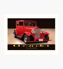 1927 Chevrolet Sedan 'USA' Art Print