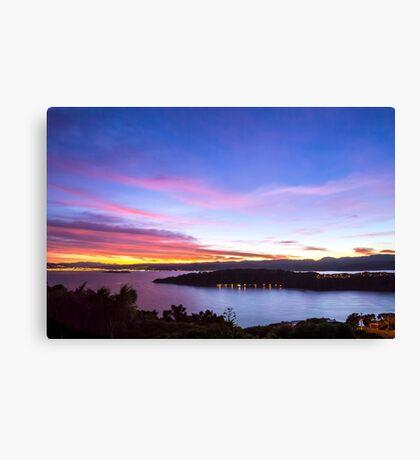 Dawn Over Miramar Peninsular, Wellington Canvas Print