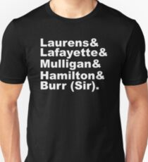 Hamilton Revolutionaries (white) Unisex T-Shirt