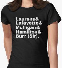 Hamilton Revolutionäre (weiß) Tailliertes T-Shirt für Frauen
