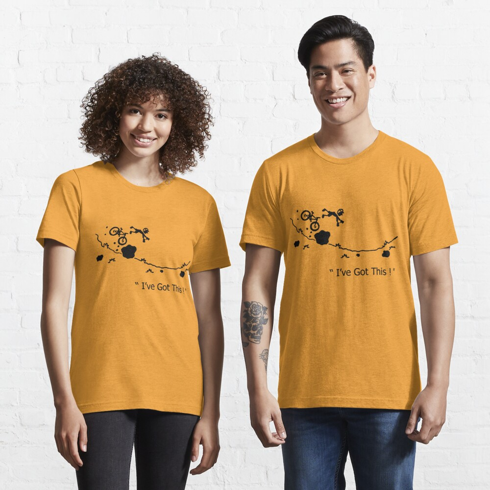 "Cycling Crash, Mountain Bike "" I've Got This ! "" Cartoon Essential T-Shirt"