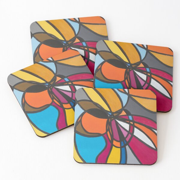 United Colors Coasters (Set of 4)