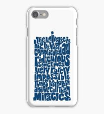 Full of Miracles (blue) iPhone Case/Skin