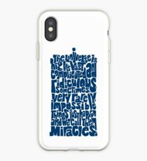 Full of Miracles (blue) iPhone Case