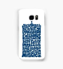 Full of Miracles (blue) Samsung Galaxy Case/Skin