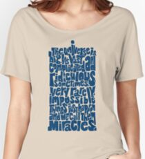 Full of Miracles (blue) Women's Relaxed Fit T-Shirt