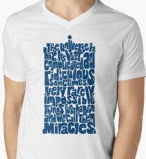 Full of Miracles (blue) Men's V-Neck T-Shirt