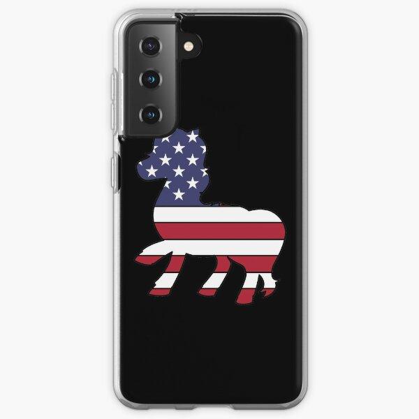 American flag unicorn Samsung Galaxy Soft Case