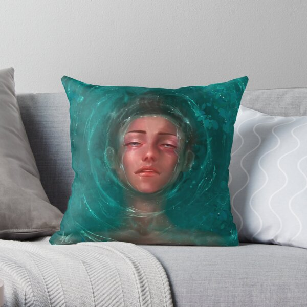 Water Boy Throw Pillow