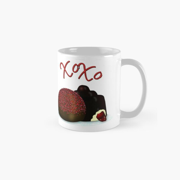 XOXO Valentine Bonbon and Dark Chocolate Covered Cherry Classic Mug