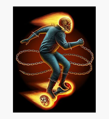 Ghost Rider On a Hoverboard Photographic Print