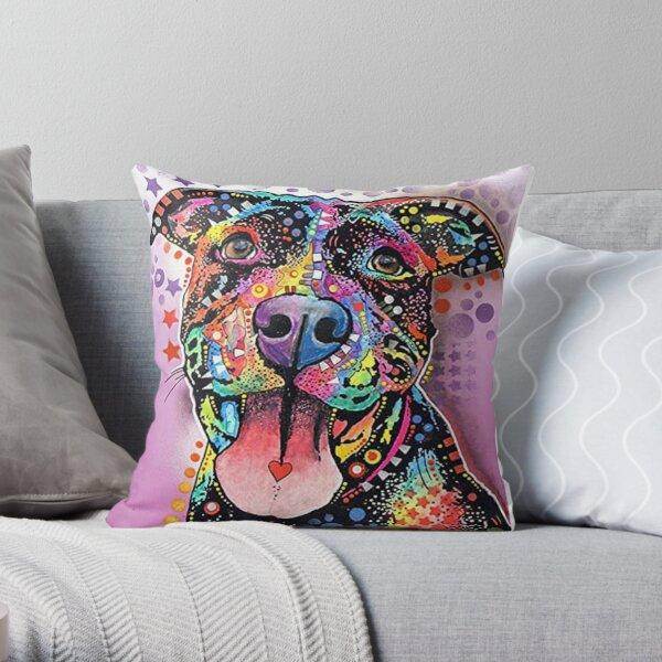 Dog Graffiti Oil Painting Throw Pillow