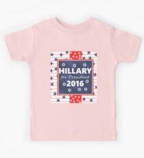 Hillary for President 2016 Kids Tee