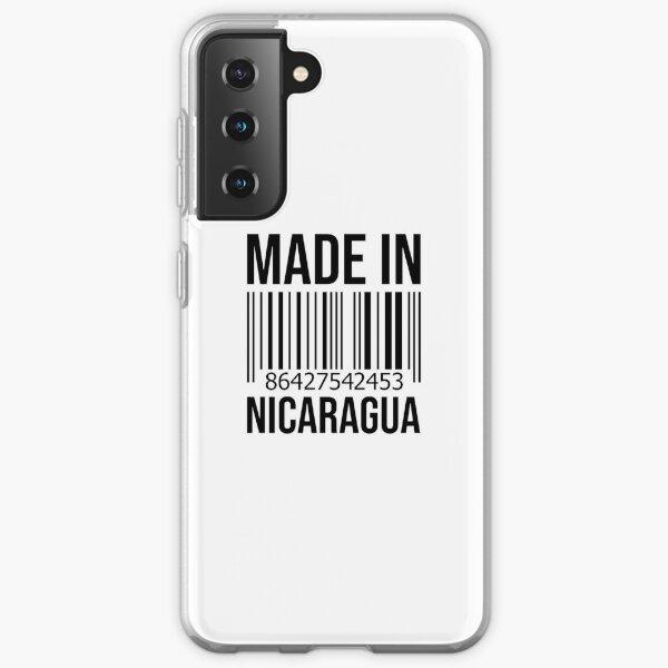 Hecho en Nicaragua Funda blanda para Samsung Galaxy