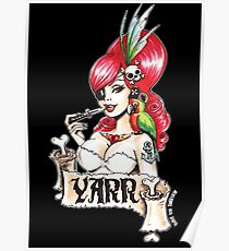 Pirate pinup Yarr me hearties! Poster