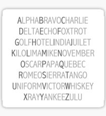 Phonetic Alphabet Sticker