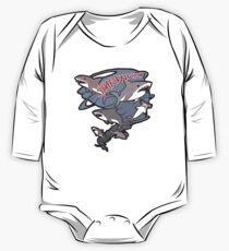 Niedliches Sharknado Baby Body Langarm