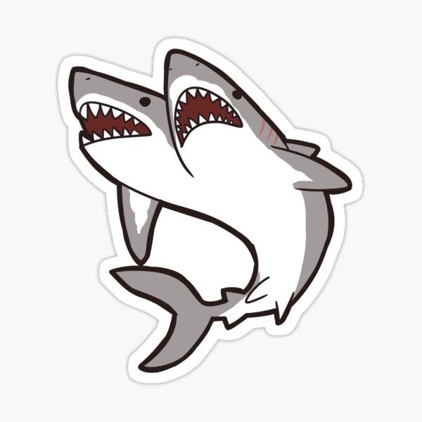 2-Headed Shark Sticker