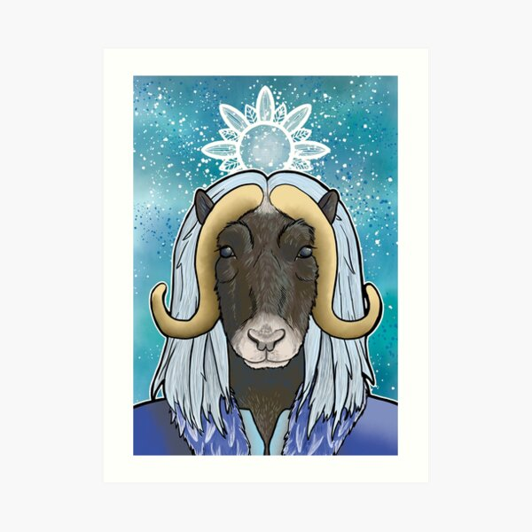 Musk Ox Man Art Print