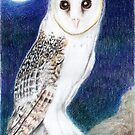Mid-Summer's Eve: Barn owl by Aakheperure