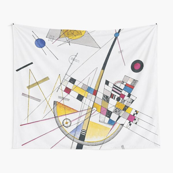 Impression of a Picture by Kandinsky, Delicate Tension No. 85, 1923 Artwork Impression In Vector Graphics Tapestry