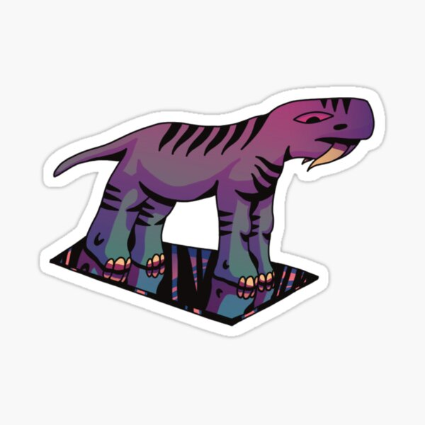 reflected dinosaur Sticker