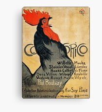 Cocorico Poster ca 1899 (PD) Canvas Print