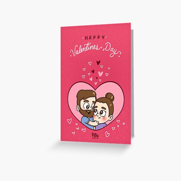 Pibubear Valentine's day Greeting Card