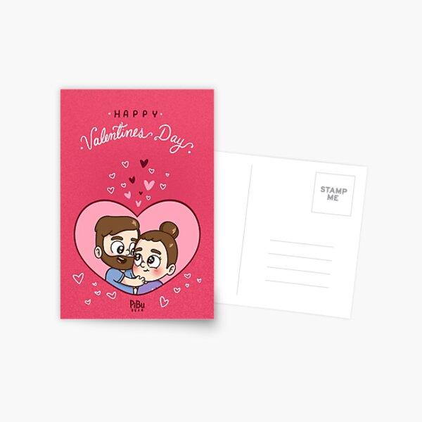 Pibubear Valentinstag Postkarte