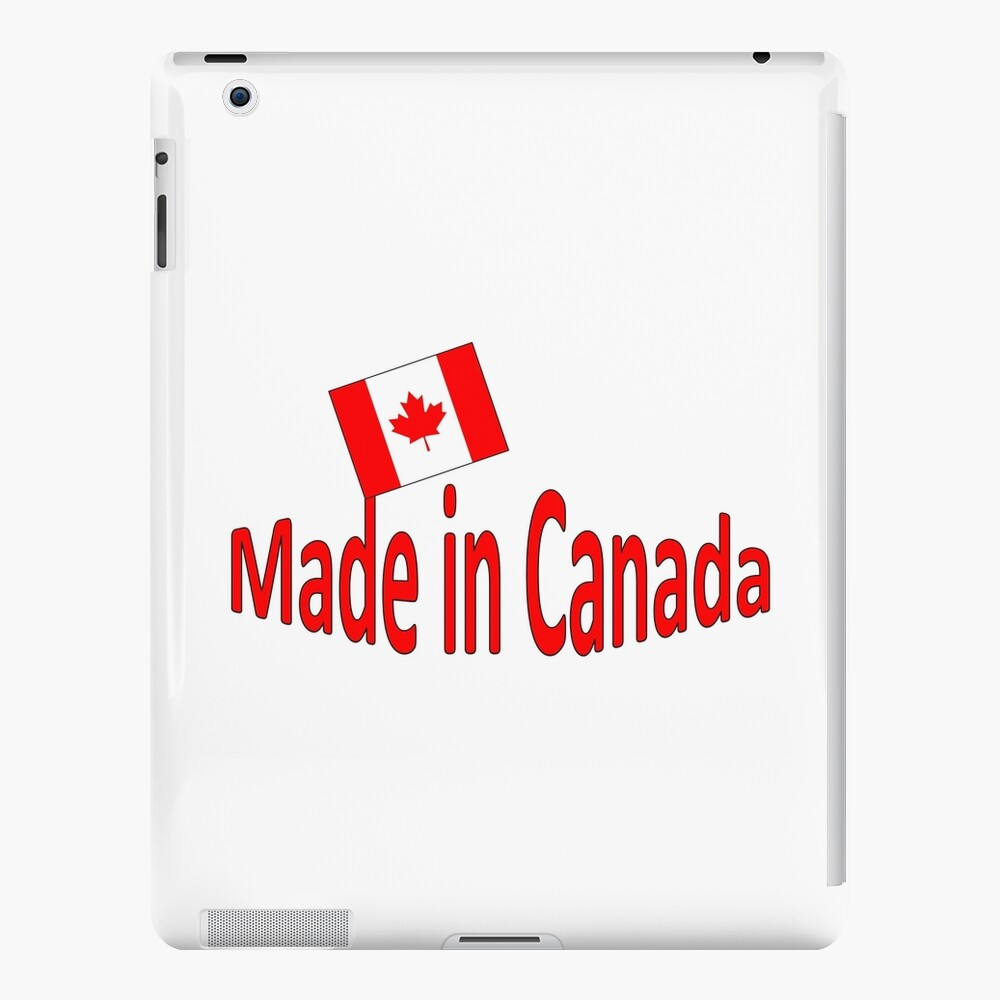Proud Canadian Red Font says made in Canada   iPad Case & Skin