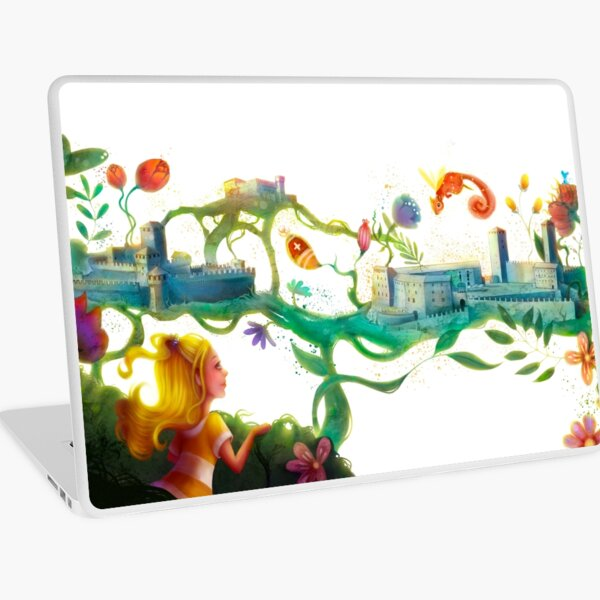 Anna and the castles of Bellinzona Laptop Skin