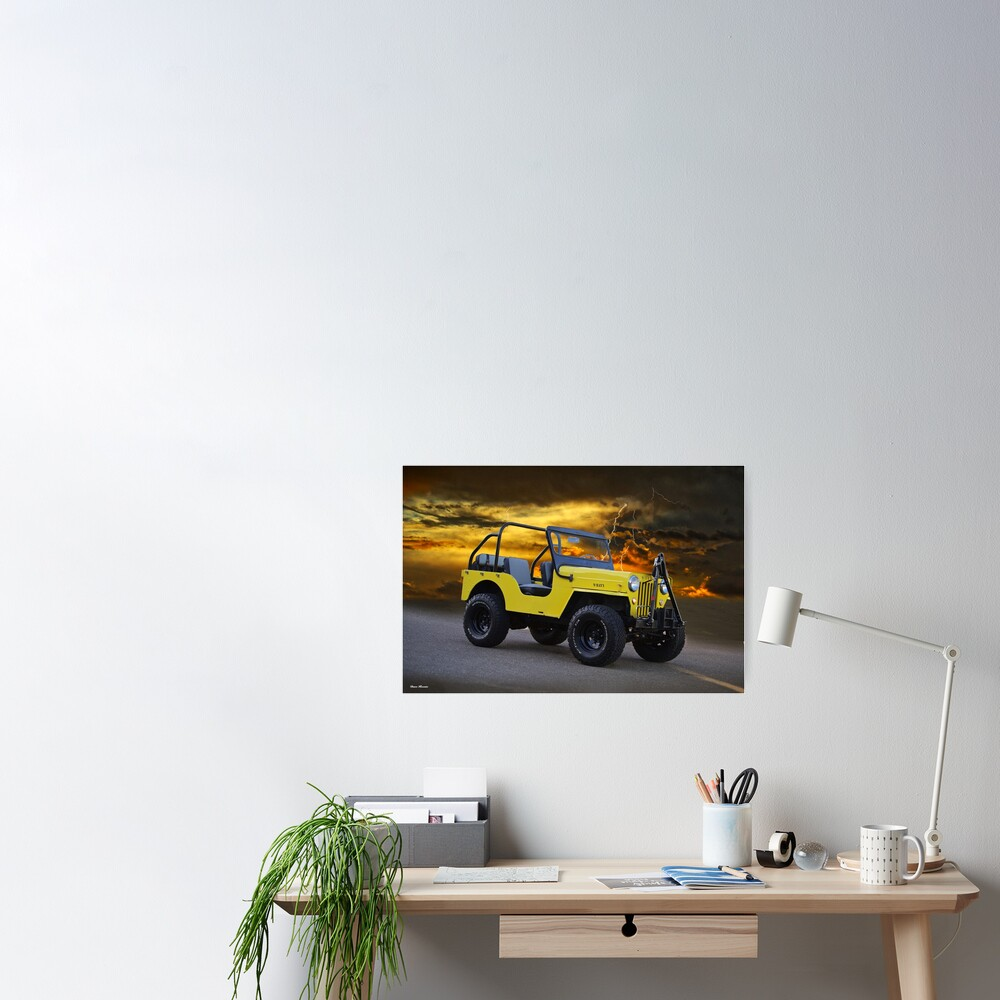 Willys 'Vintage Off-Road' Vehicle Poster