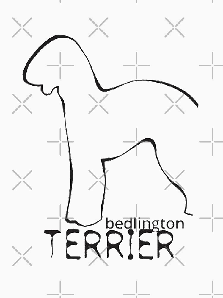 Bedlington Terrier t shirt by GERGESZAKKA1