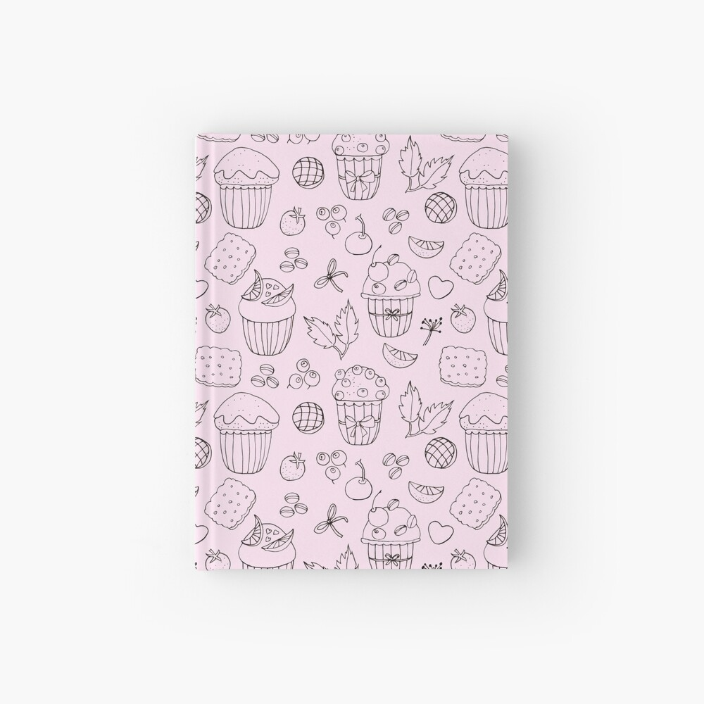 Muffins line art Hardcover Journal