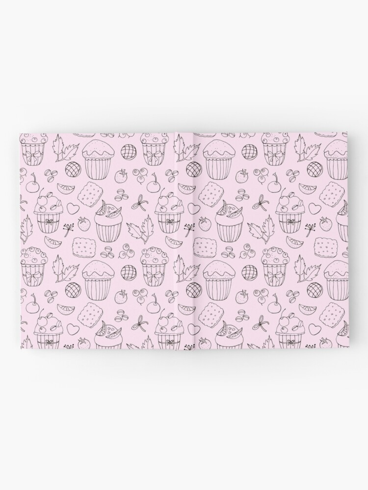 Alternate view of Muffins line art Hardcover Journal