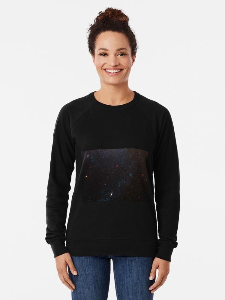 Alternate view of Hubble Space Telescope - Spiral Galaxy M81 Details 6 (2007) Lightweight Sweatshirt